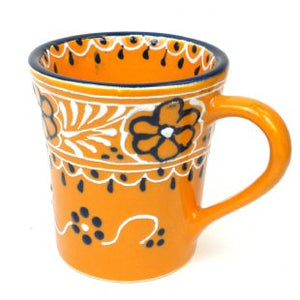 Hand Painted Flared Cup - Mango