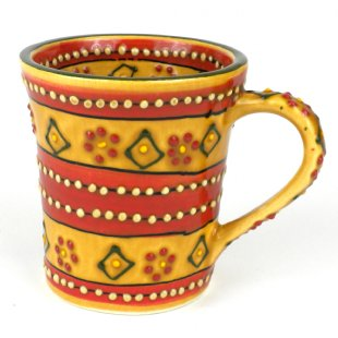 Hand Painted Flared Cup -More Red