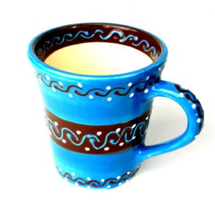 Hand Painted Flared Cup - Azure Blue