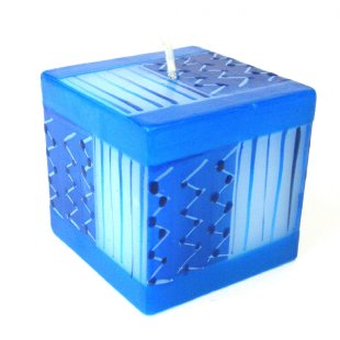 Hand Painted Candle - Cube - Feruzi Design