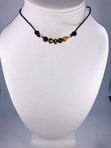 Brown Choker - Mix Brown Color Beads
