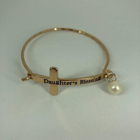 Cross Daughter's Blessing Gold Bracelet