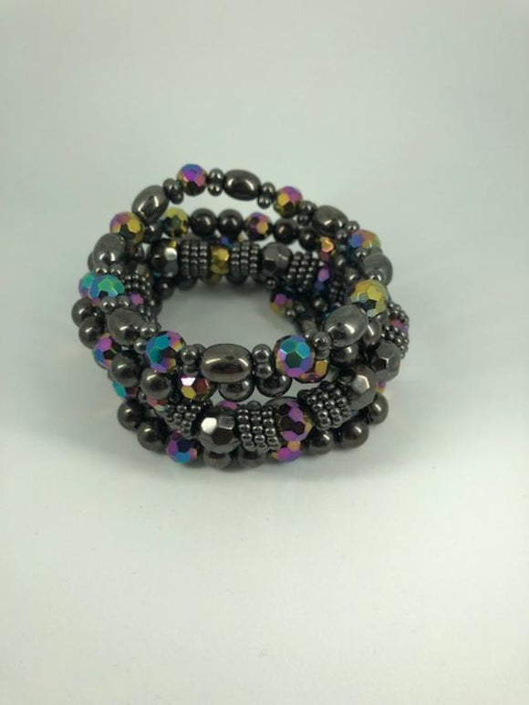 Multi Color Stretch Beaded Bracelet (used)