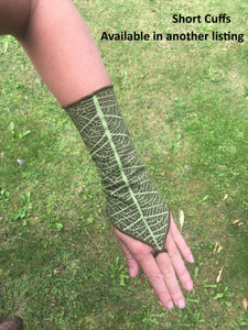 Long Leaf Print Cuffs