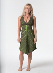 Women's Leaf Print Dress