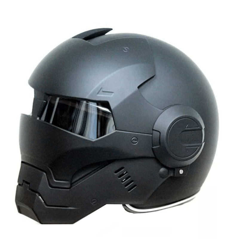 Iron Man Black Motorcycle Helmet