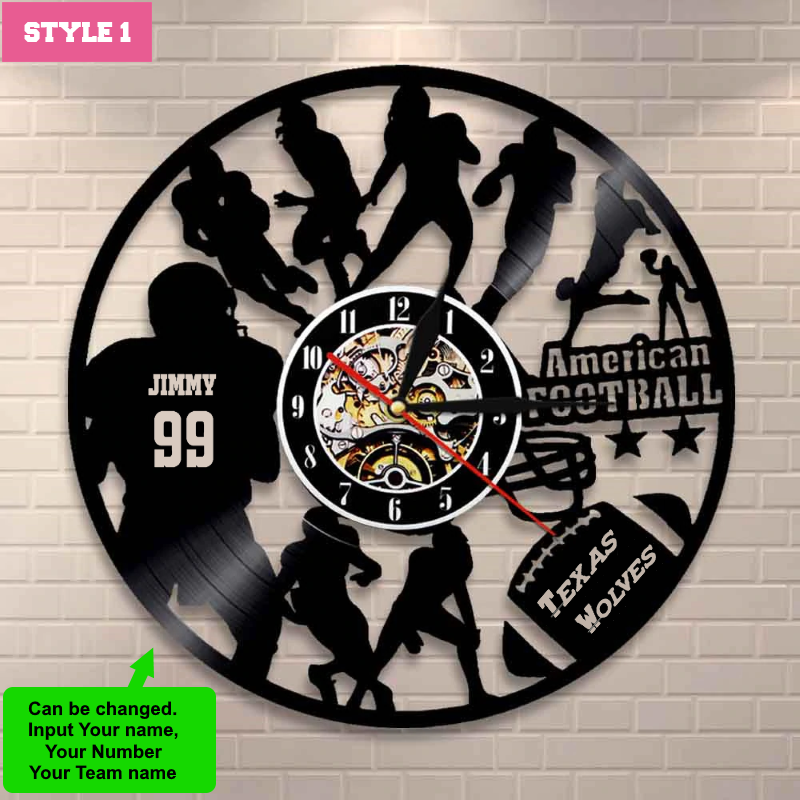 American Football Custom Wall Clock