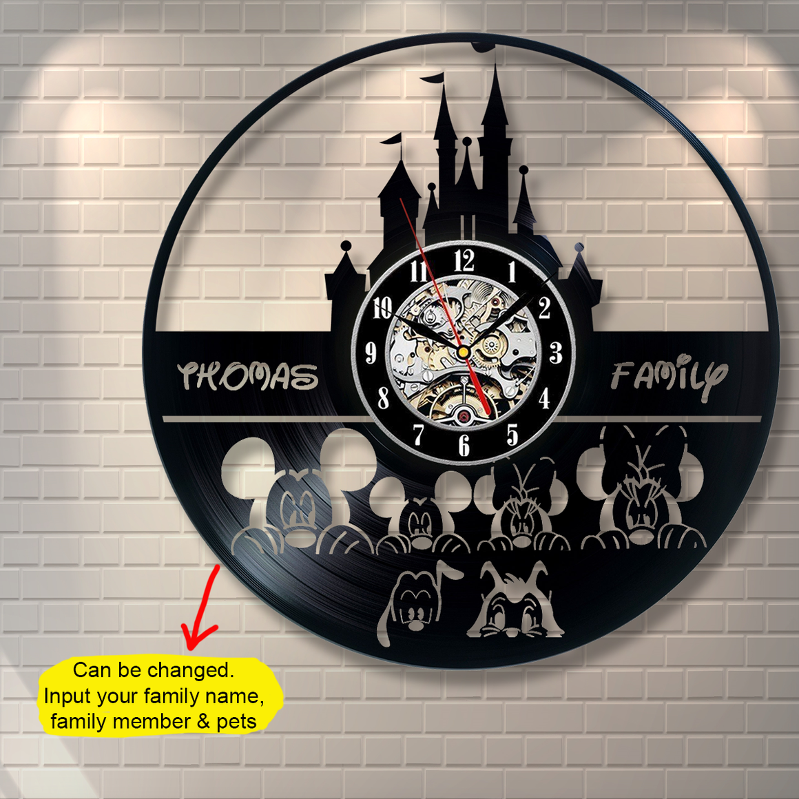 Mickey Family Custom Wall Clock