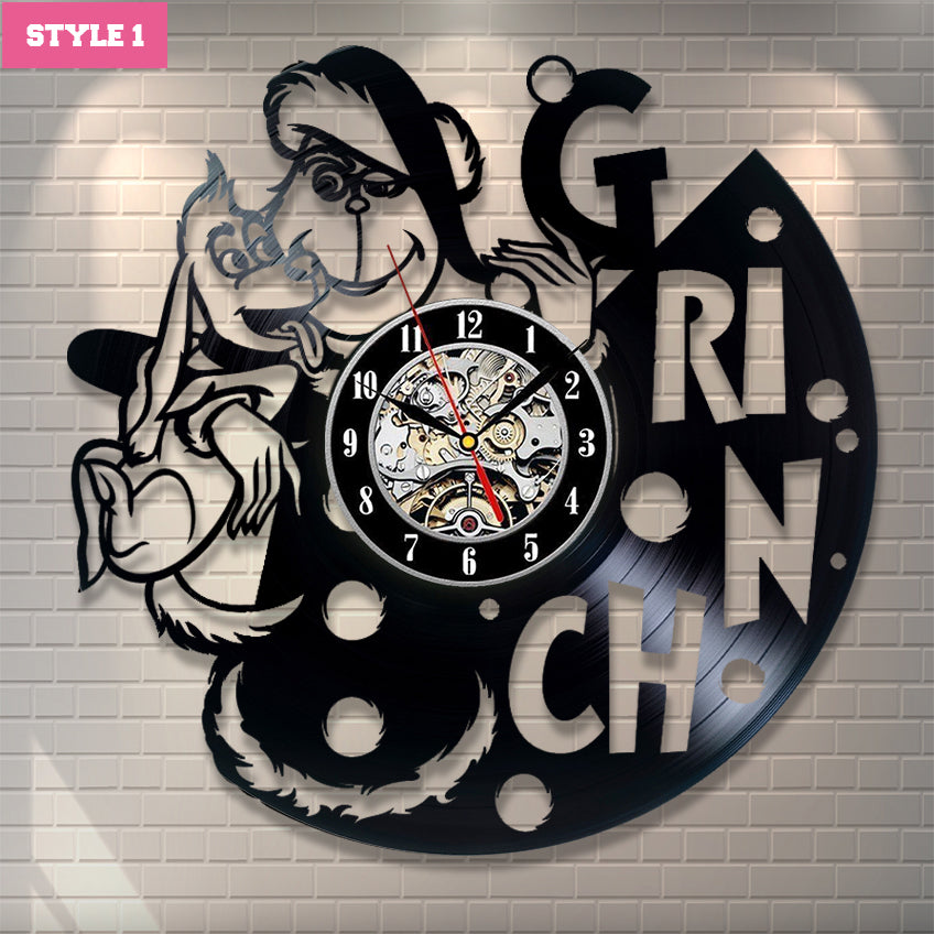 The Grinch Wall Clock