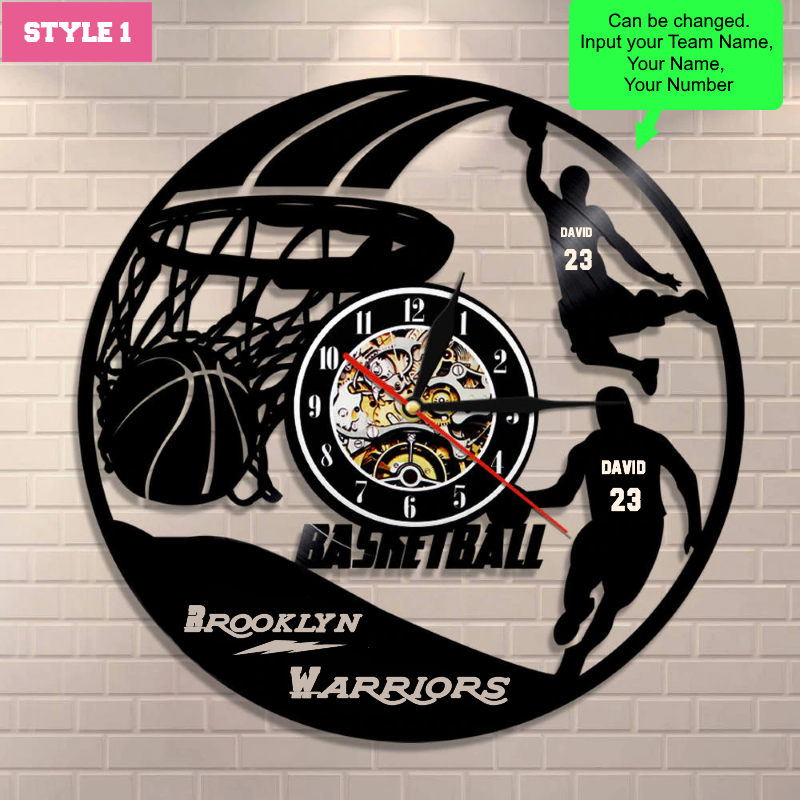 Basketball Custom Wall Clock