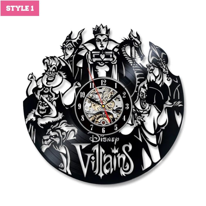 Disney Villains Wall Clock