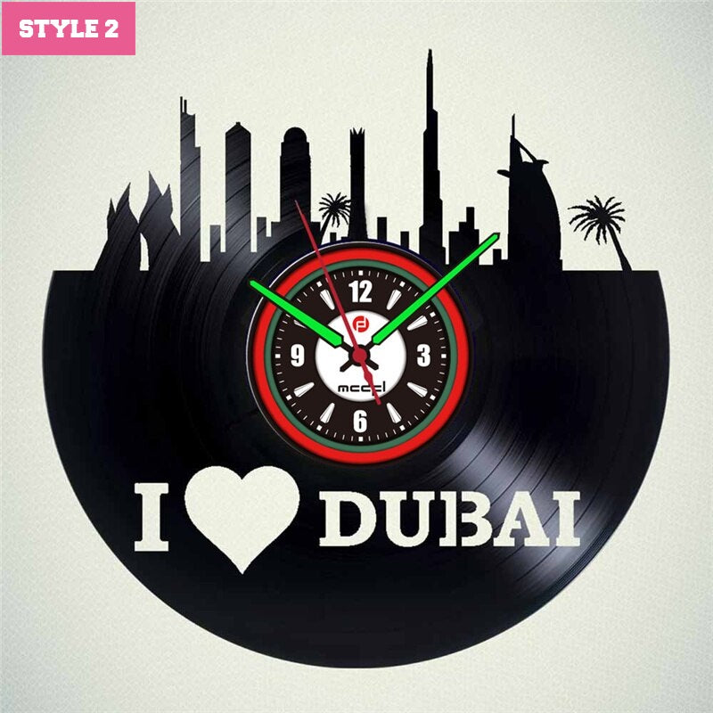 Dubai Wall Clock