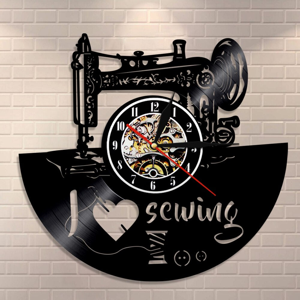 I Love Sewing Wall Clock