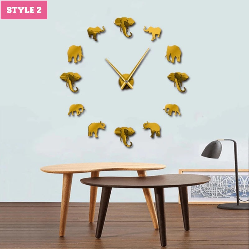 Elephant Giant Wall Clock