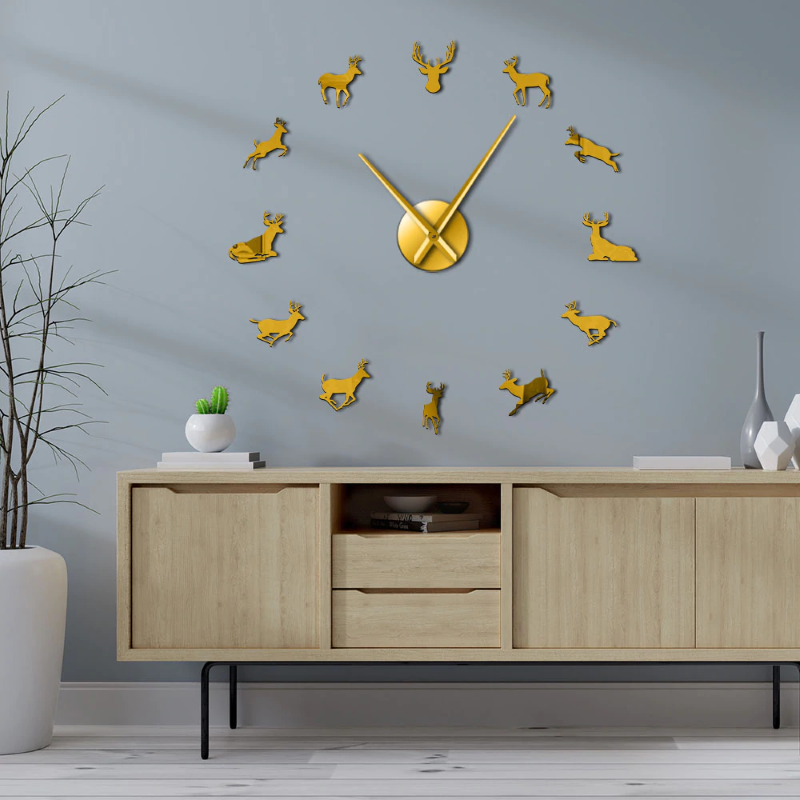 Deer Giant Wall Clock