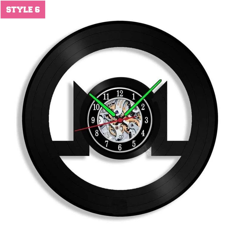Cryptocurrency Logo Wall Clock