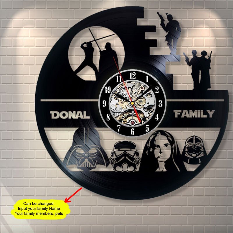 Star Wars Family Custom Wall Clock