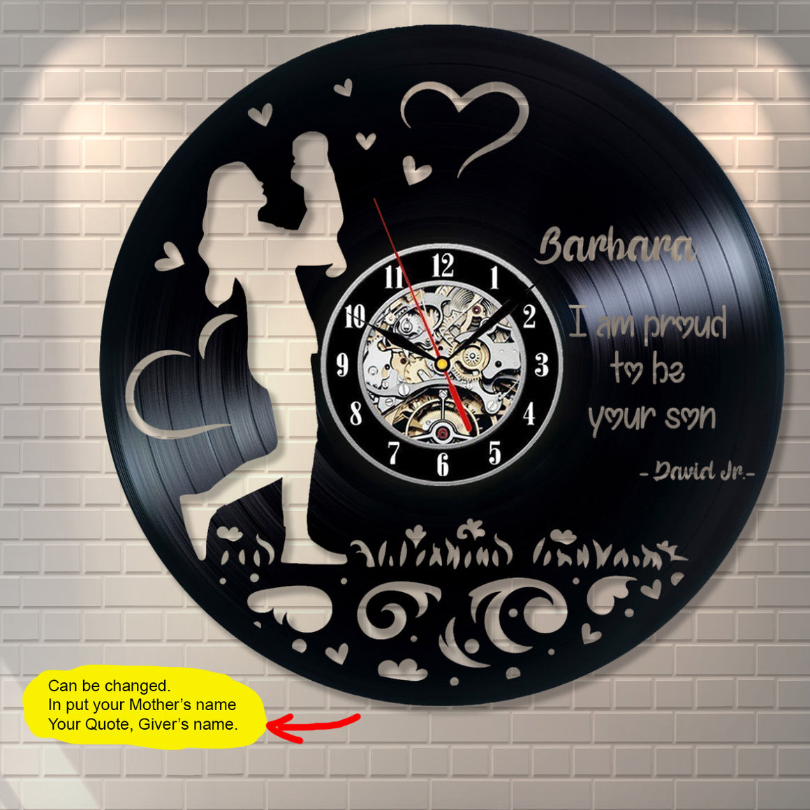 Mother Custom Wall Clock