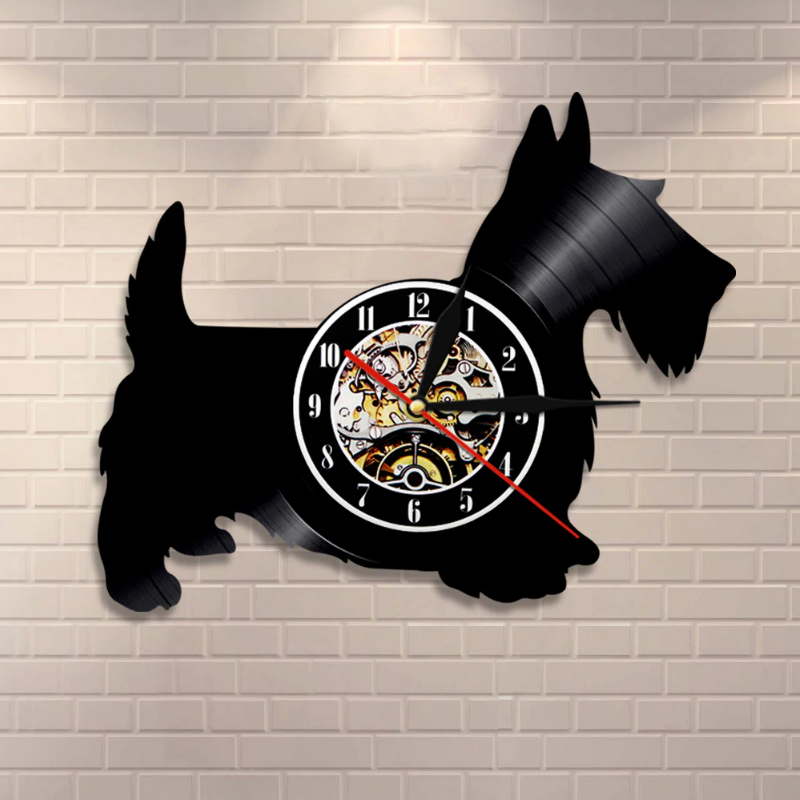 Scottie Dog Custom Wall Clock