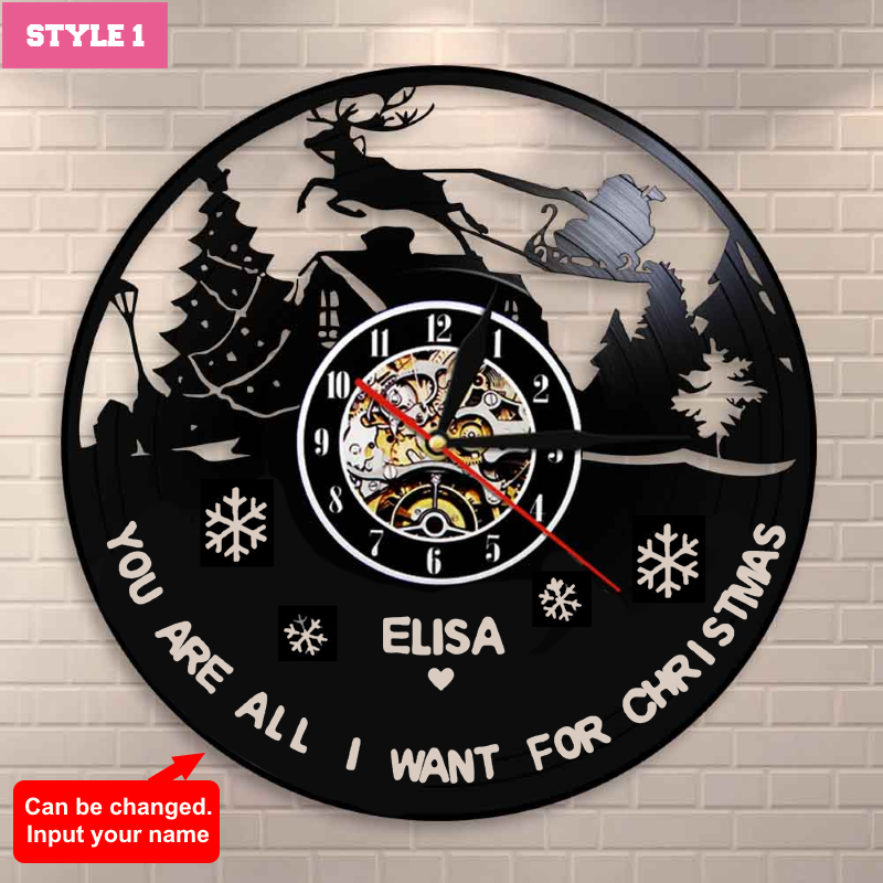 Christmas Custom Wall Clock
