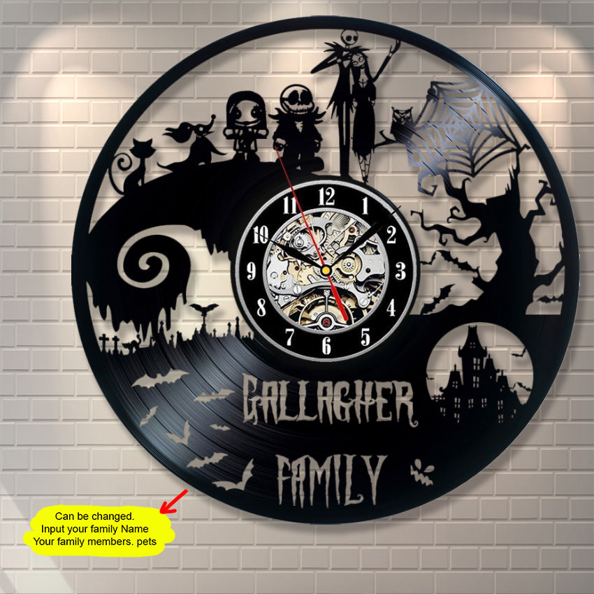 The Nightmare Before Christmas Family Custom Wall Clock