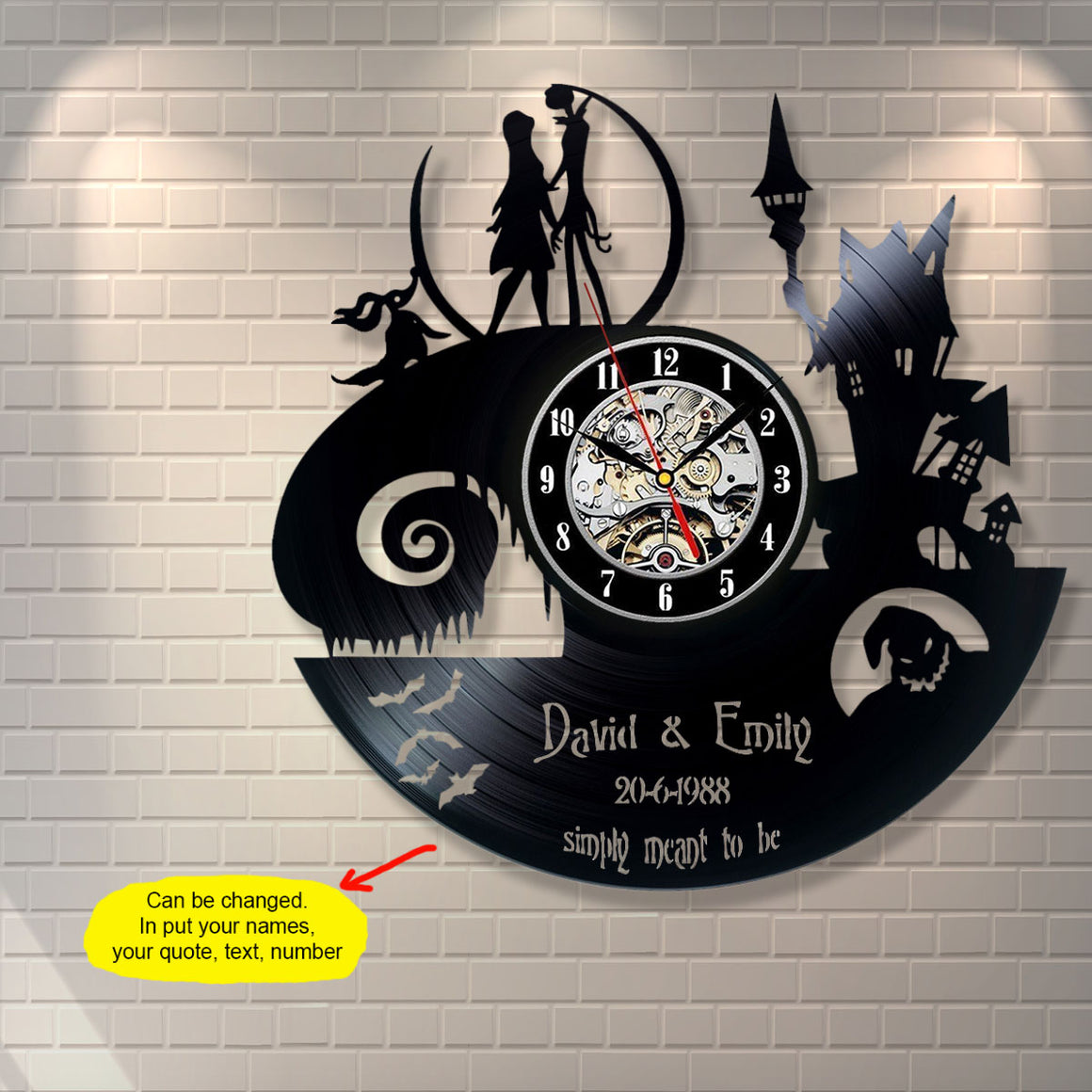 The Nightmare Before Christmas Custom Wall Clock