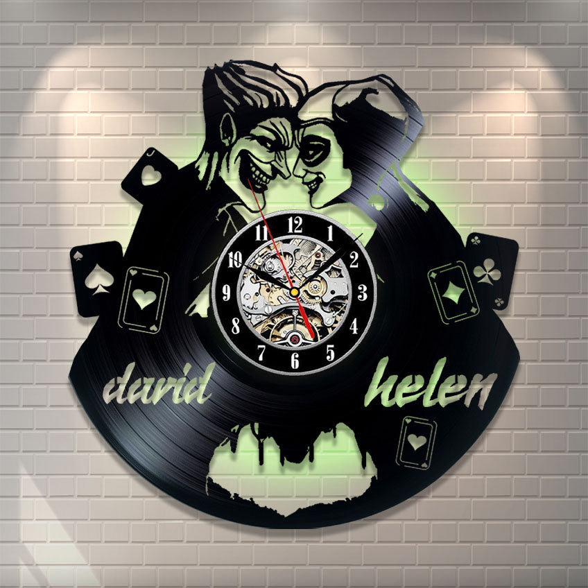 Joker Love Personalized Wall Clock