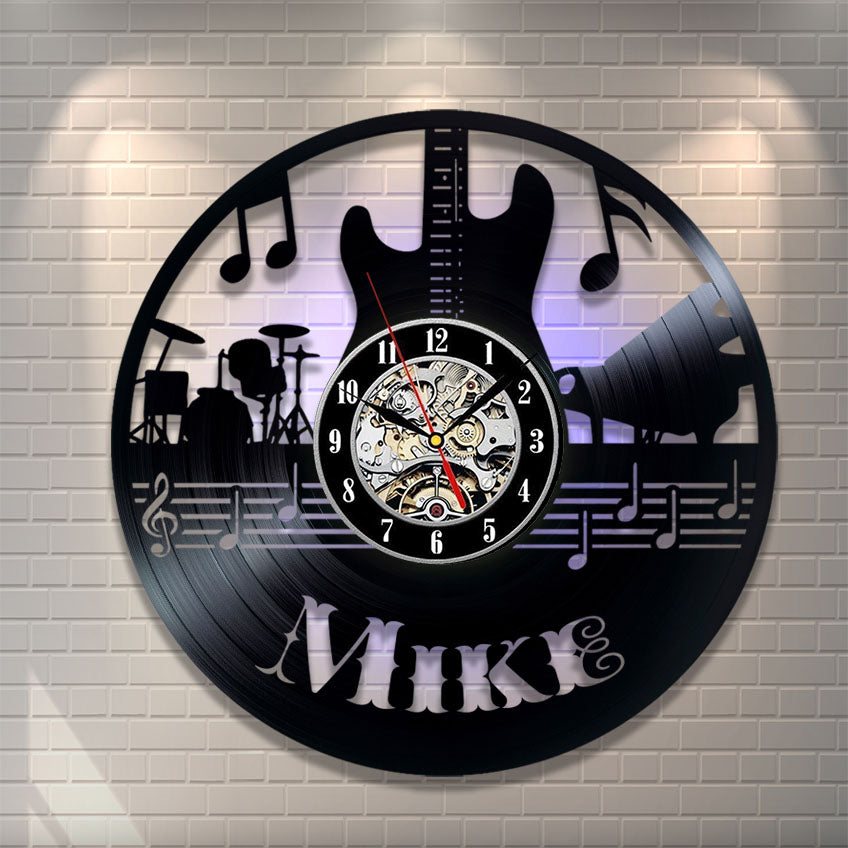 Guitar Personalized Wall Clock (AD0005)