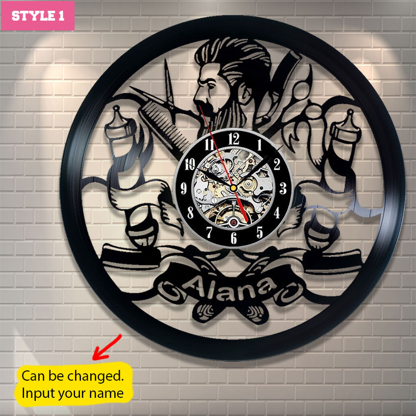 Barber Personalized Wall Clock
