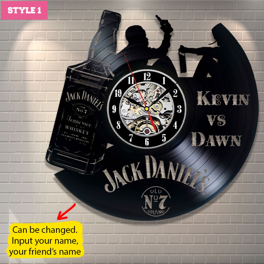 Jack Daniel Personalized Wall Clock