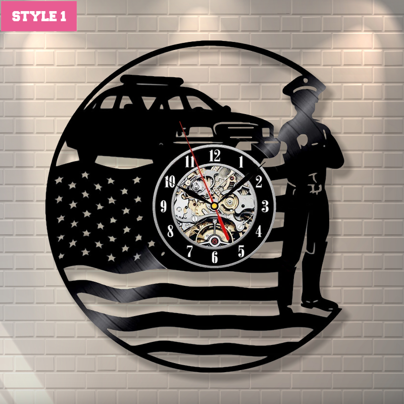 Police Officer Wall Clock