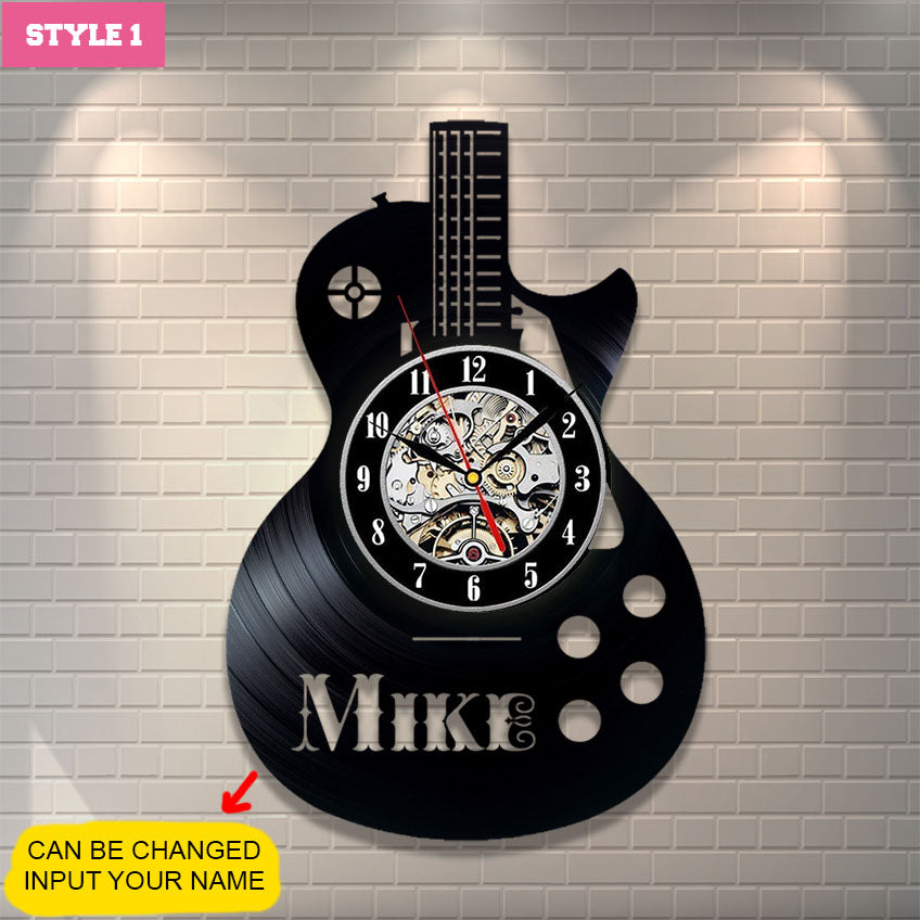 Guitar Personalized Wall Clock