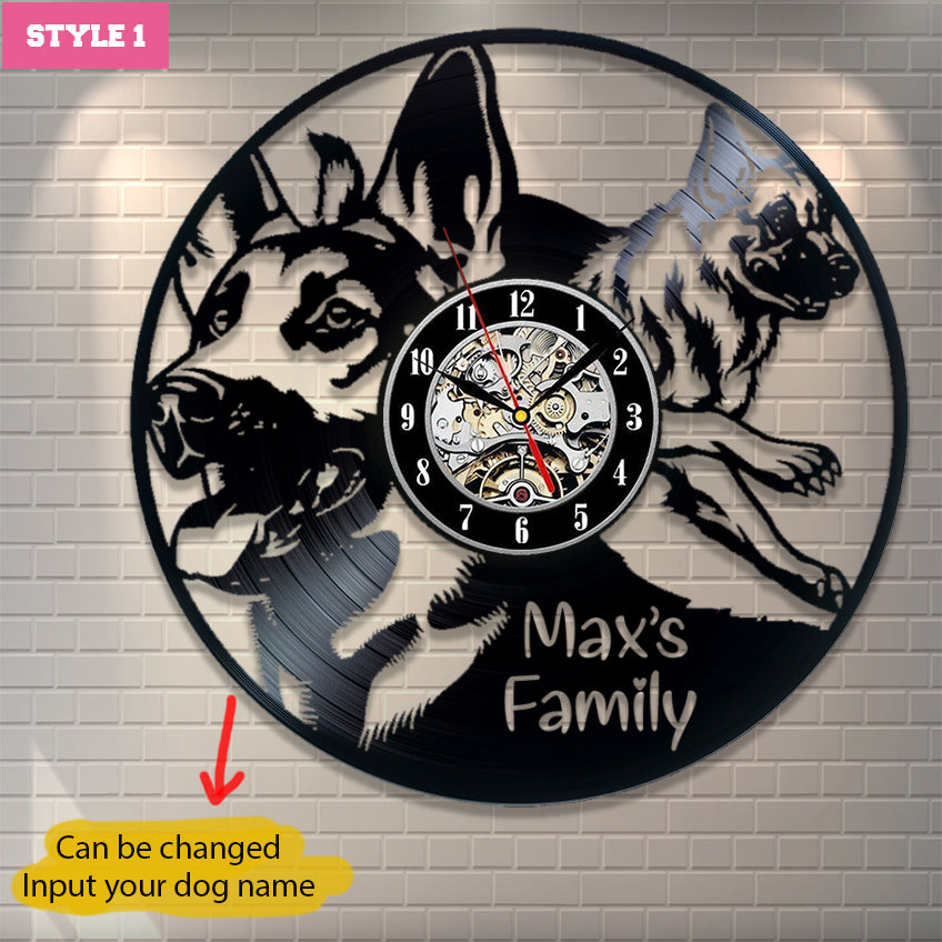 German Shepherd Personalized Wall Clock
