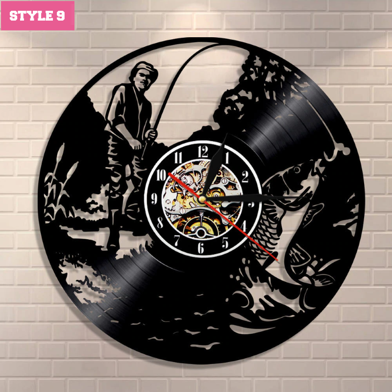 Fishing Wall Clock