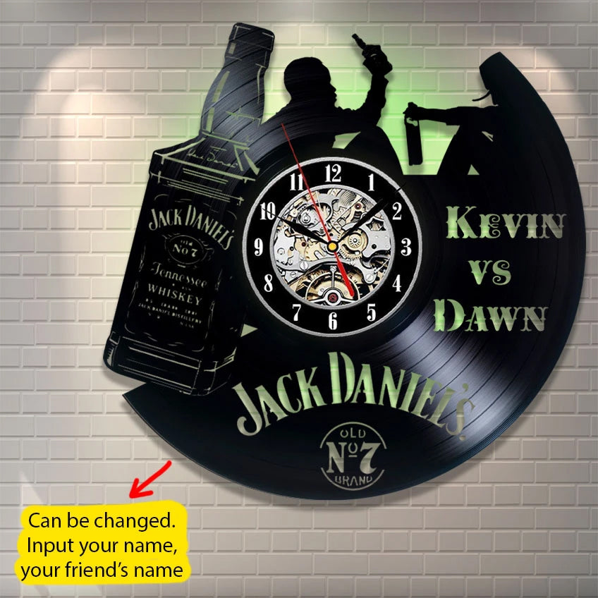 Jack Daniel's Custom Wall Clock