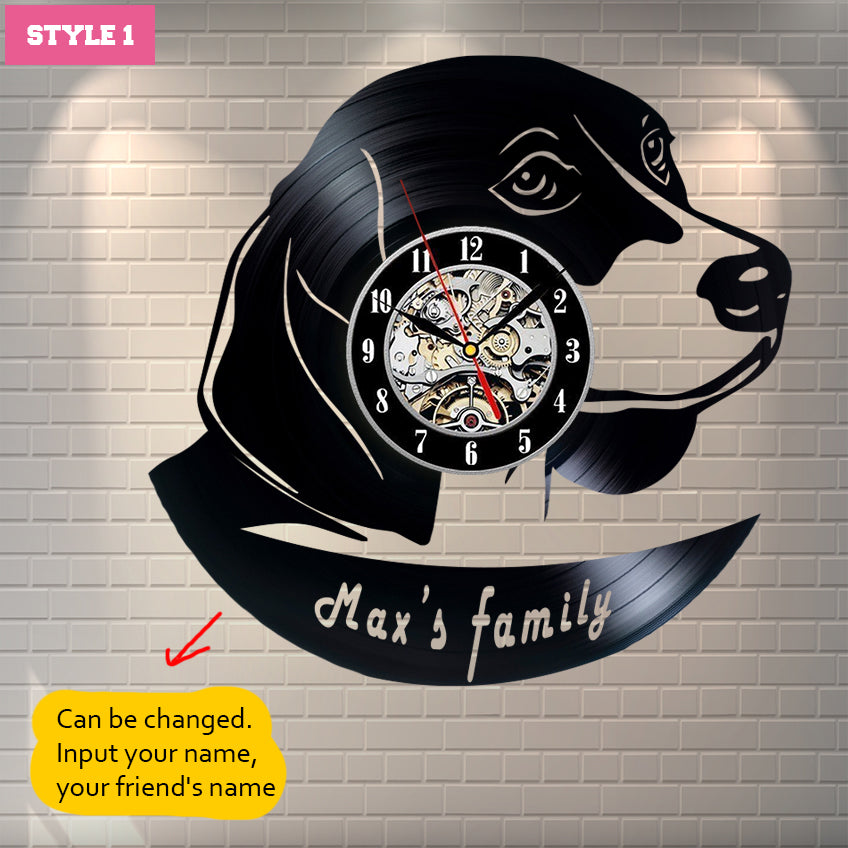 Beagle Personalized Wall Clock