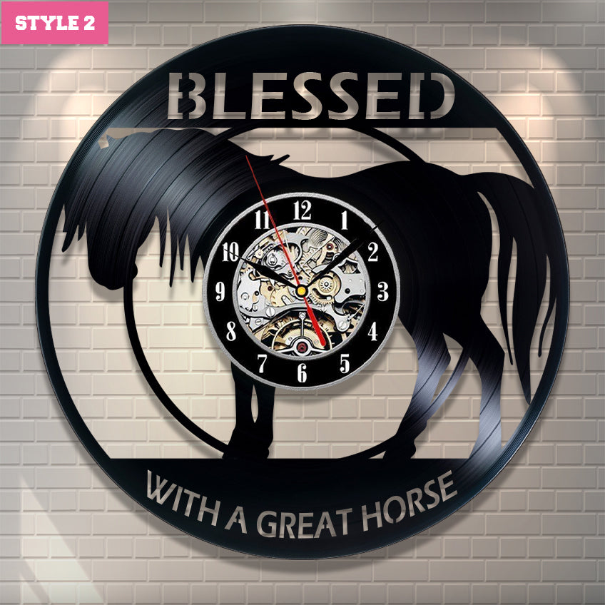 Love Horse Wall Clock