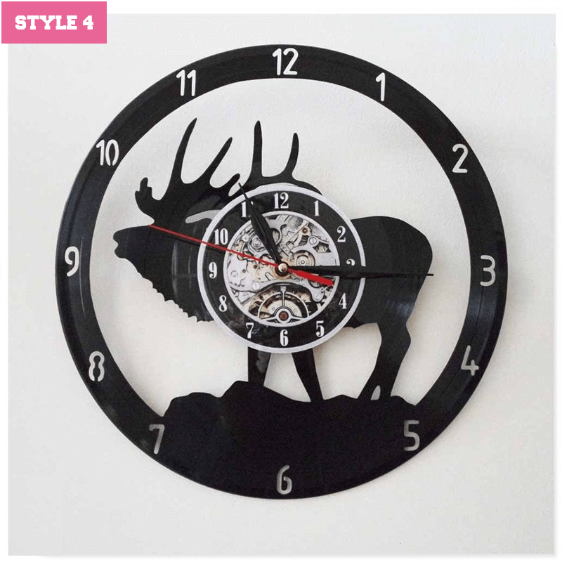Xmas Elk Wall Clock