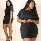 Waist Sinch Black Dress