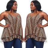 Leopard Print Blouse Top