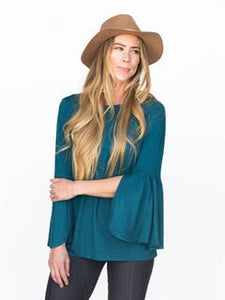 Bell Sleeve Tunic Teal