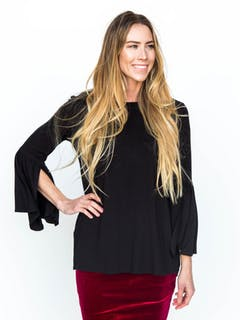 Bell Sleeve Tunic Black