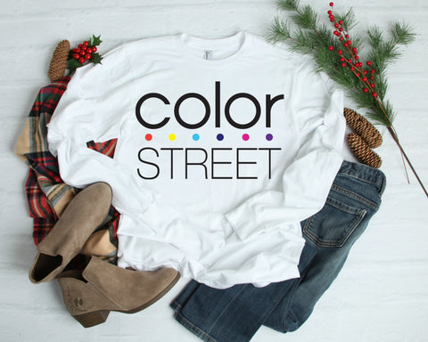Long Sleeve Color Street T