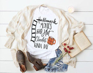 Hallmark Movies and Hot Chocolate Short Sleeve T