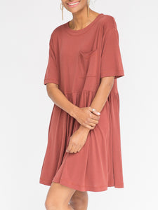 Kahlo Dress Marsala