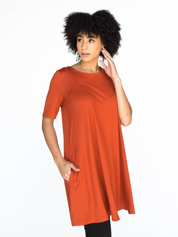 Swing Tunic Burnt Orange