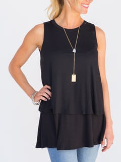Tiered Tunic Black