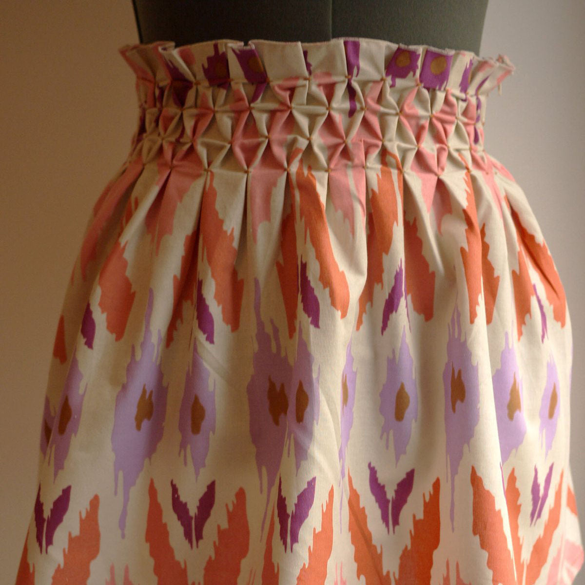 The Smocked Honeycomb Skirt Tutorial