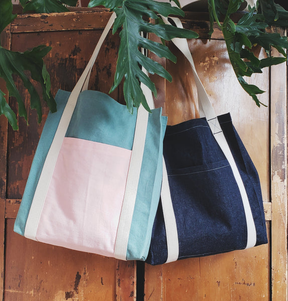 Free tote bag sewing pattern