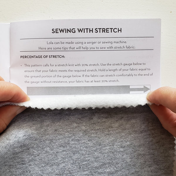 Percentage of stretch in fabric